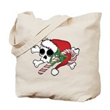 Cute Santa Skull Tote Bag