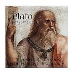 Plato Education Love Beauty Tile Coaster