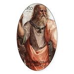 Plato Education Love Beauty Oval Sticker