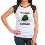 At The Cabin Women's Cap Sleeve T-Shirt