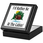 At The Cabin Keepsake Box