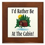 At The Cabin Framed Tile