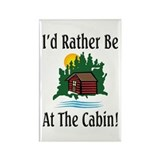 At The Cabin Rectangle Magnet