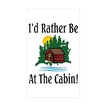 At The Cabin Rectangle Sticker 10 pk)