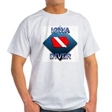 Iowa Diver Ash Grey T-Shirt