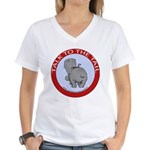 Hippo Talk To The Tail Women's V-Neck T-Shirt