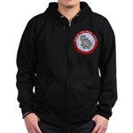 Hippo Talk To The Tail Zip Hoodie (dark)