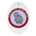 Hippo Talk To The Tail Ornament (Oval)