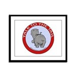 Hippo Talk To The Tail Framed Panel Print