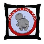 Hippo Talk To The Tail Throw Pillow