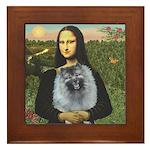 Mona Lisa / Keeshond (F) Framed Tile