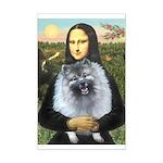 Mona Lisa / Keeshond (F) Mini Poster Print