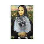Mona Lisa / Keeshond (F) Rectangle Magnet
