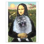 Mona Lisa / Keeshond (F) Small Poster