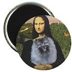 Mona Lisa / Keeshond (F) Magnet