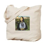Mona Lisa / Keeshond (F) Tote Bag