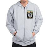 Mona Lisa / Keeshond (F) Zip Hoodie