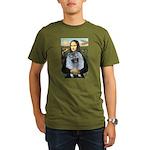 Mona Lisa / Keeshond (F) Organic Men's T-Shirt (da