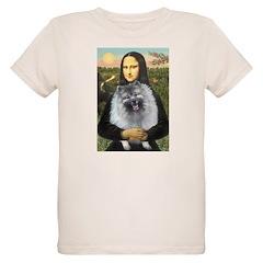 Mona Lisa / Keeshond (F) Organic Kids T-Shirt