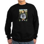 Mona Lisa / Keeshond (F) Sweatshirt (dark)