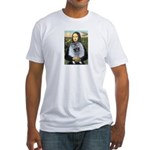 Mona Lisa / Keeshond (F) Fitted T-Shirt