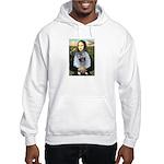 Mona Lisa / Keeshond (F) Hooded Sweatshirt