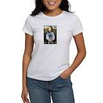 Mona Lisa / Keeshond (F) Women's T-Shirt