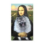 Mona Lisa / Keeshond (F) Sticker (Rectangle 10 pk)