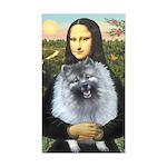 Mona Lisa / Keeshond (F) Sticker (Rectangle 50 pk)