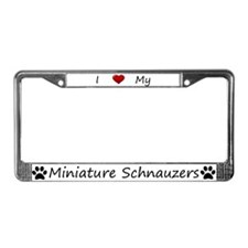 White I Love My Miniature Schnauzers Frame