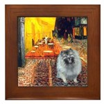 Cafe / Keeshond (F) Framed Tile