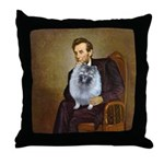 Lincoln / Keeshond (F) Throw Pillow