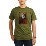 Lincoln / Keeshond (F) Organic Men's T-Shirt (dark
