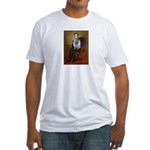 Lincoln / Keeshond (F) Fitted T-Shirt