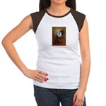 Lincoln / Keeshond (F) Women's Cap Sleeve T-Shirt