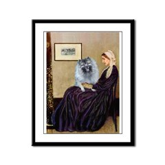 Mom's Keeshond (F) Framed Panel Print