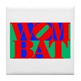 Wombat Text Pop Art Tile Coaster