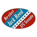 Jack Reed for Senate oval bumper sticker