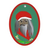 Reggae Santa /Oval Ornament