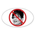 Anti Sarah Palin Oval Sticker