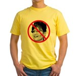 Anti Sarah Palin (Front) Yellow T-Shirt