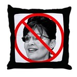 Anti Sarah Palin Throw Pillow