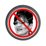Anti Sarah Palin Wall Clock