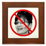 Anti Sarah Palin Framed Tile