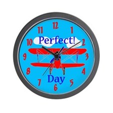 kids airplane Wall Clock