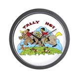 Tally Ho! Wall Clock