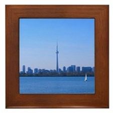 Toronto Summer Skyline Framed Tile