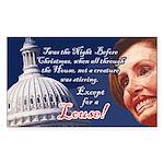 Nancy Pelosi Holiday Rectangle Sticker 10 pk)
