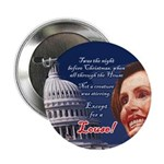 """Nancy Pelosi Holiday 2.25"""" Button (10 pack)"""