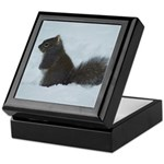 Snowy Squirrel 2 Keepsake Box